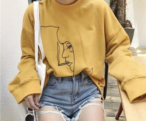 fashion, yellow, and outfit image