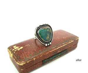 1960s, gemstone ring, and chiseled image