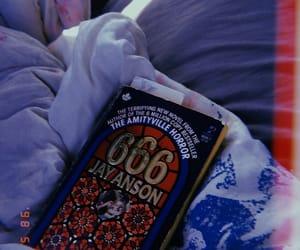 666, book, and creepy image