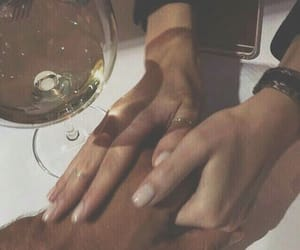 couple, wine, and love image