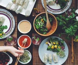 dinner, dinner party, and green image