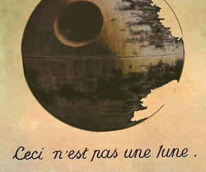moon, star wars, and death star image