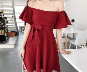 dress, aesthetic, and red image