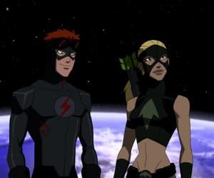artemis, dick grayson, and justice league image