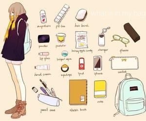 school, bag, and anime image