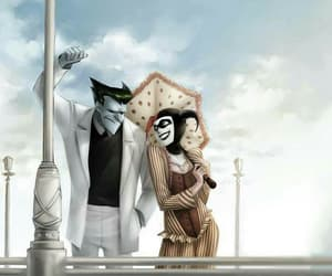 harley quinn, joker, and comic image