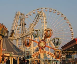 vintage, aesthetic, and amusement park image