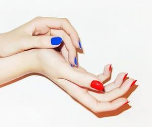 blue, nail polish, and patriot image