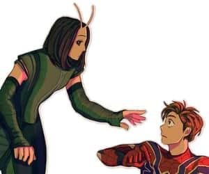 mantis, Marvel, and spiderman image