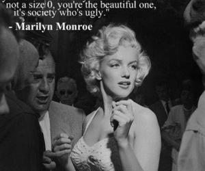 b&w, Marilyn Monroe, and text image