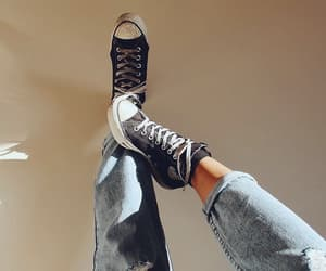 sneakers, converse, and denim image