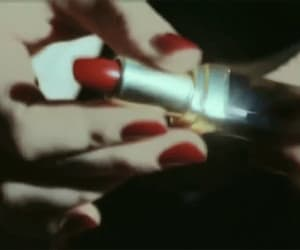 gif, red, and lipstick image