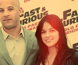 michelle rodriguez and Vin Diesel image