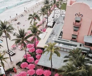 hotel, pink, and summer image