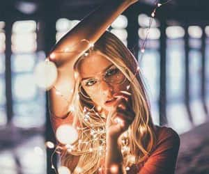 chic, glasses, and lights image