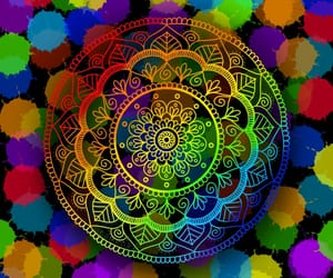 mandala, art, and background image