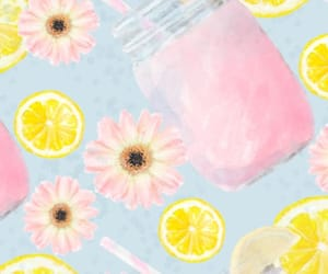 flowers, wallpapers, and lemonade image
