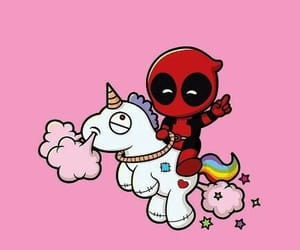 deadpool, unicorn, and Marvel image