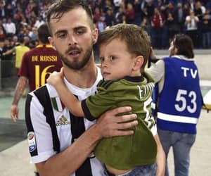 father and son, football, and Juventus image