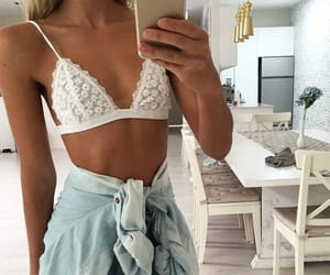 bra, lingerie, and look image