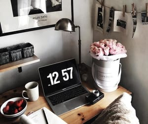 breakfast, laptop, and life image