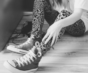 converse, black and white, and all star image