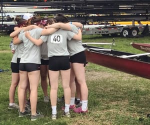 crew, rowing, and love image