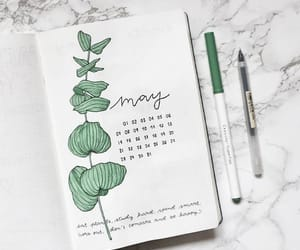 agenda, writing, and month image