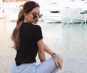 brown, hair, and girl image