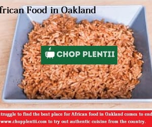 african food, jollof rice, and african food delivery image