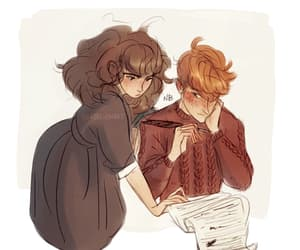 art, harry potter, and books image