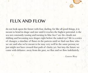 flow, quote, and Letter image