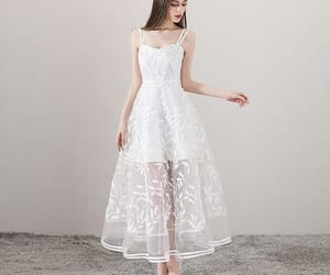 girl, see through, and summer dress image