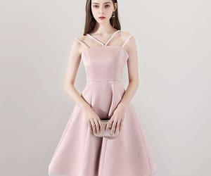 girl, formal dress, and graduation dress image
