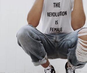 fashion, female, and style image