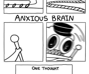 funny, sarah andersen, and anxiety image