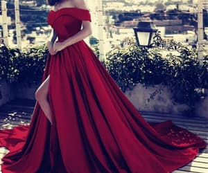 beautiful, Prom, and red image