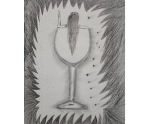 art, artist, and charcoal image