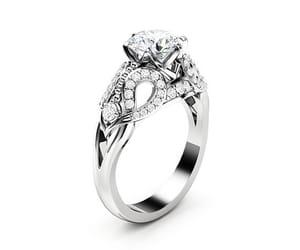 Art Nouveau, artnouveau, and moissanite ring image