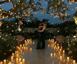 candlelight, couple, and romantic image