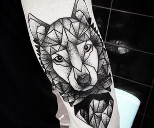 aesthetics, tattoo, and wolf image