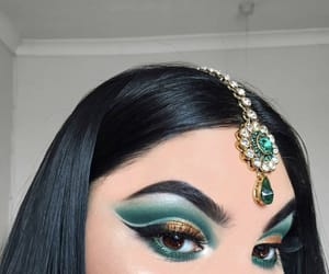 eyebrows, eyeshadow, and jewels image
