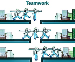 business, team, and work image