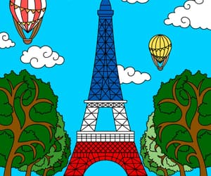 amore, colors, and eiffel tower image