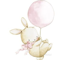 rabbit, stars, and cute image