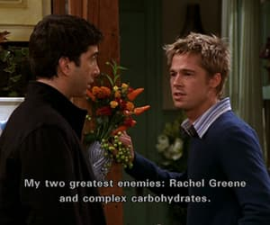 brad pitt, friends, and ross image