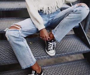 body, converse, and denim image