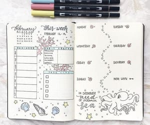 journal, bullet, and bullet journal image