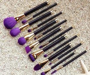 makeup bush, beautiful brushes, and unicorn brush image
