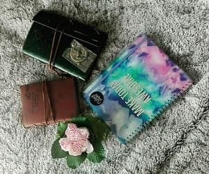 flower, notebook, and notebooks image